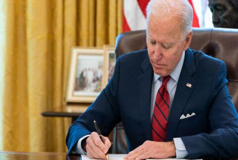 Joe Biden. In his first day as President.