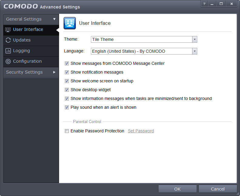 comodo_user_interface